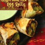 Healthy Baked Avocado Fiesta Egg Rolls