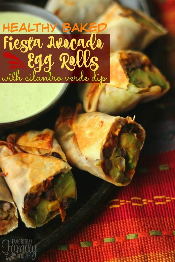 Healthy Baked Fiesta Avocado Egg Rolls