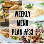 Weekly Menu Plan 33