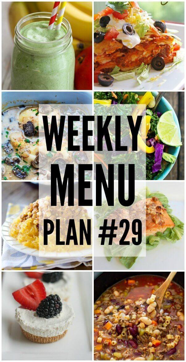 Weekly Menu Plan 29