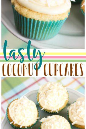 Tasty Coconut Cupcakes Pin