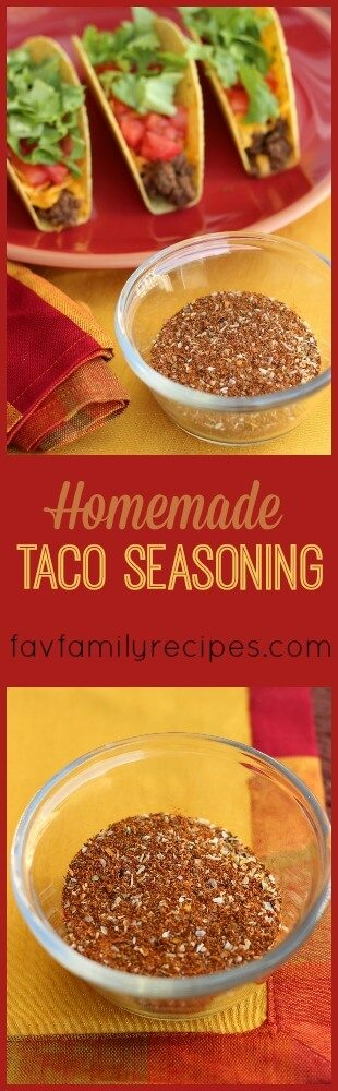 The blend of spices in this Homemade Taco Seasoning Mix makes a flavorful taco meat. Kick it up a notch by adding some crushed red pepper if you like it hot.