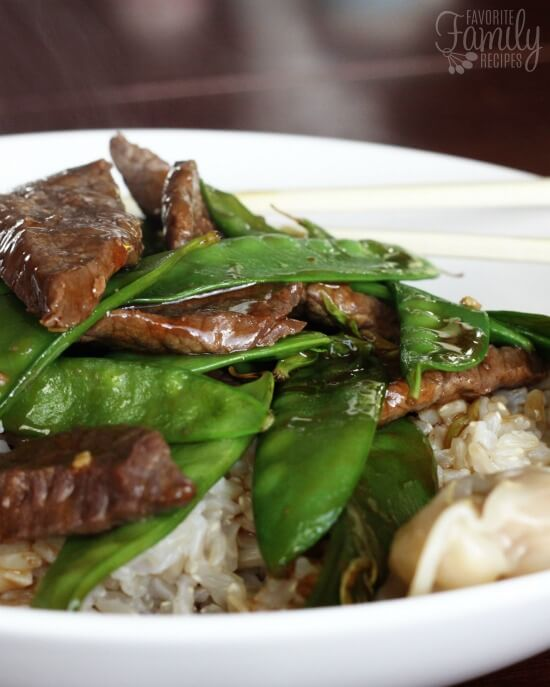 Beef and Snow Peas Dinner Recipe