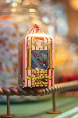 Every flavored jelly beans in Honey Dukes at the Wizarding World of Harry Potter