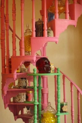 Honey Dukes stairwell at Wizarding World of Harry Potter
