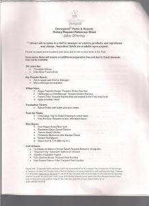 Disneyland gluten free list 2