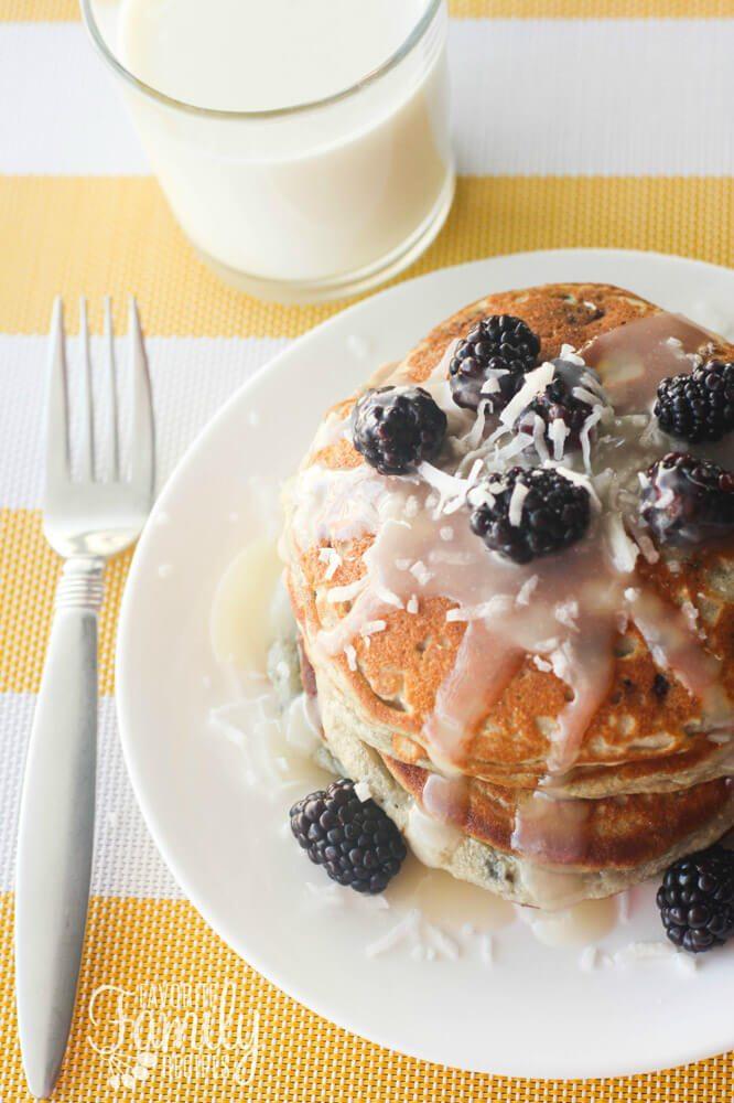 Gluten Free Blackberry Pancakes