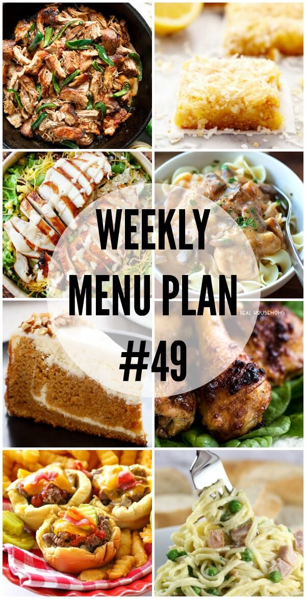 Weekly Menu Plan #49