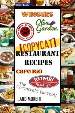 Copycat Restaurant Recipes at Home Pin