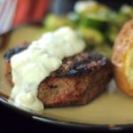 Filet Mignon with Melted Blue Cheese Sauce