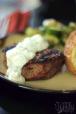 Filet Mignon with Melted Blue Cheese Sauce Recipe