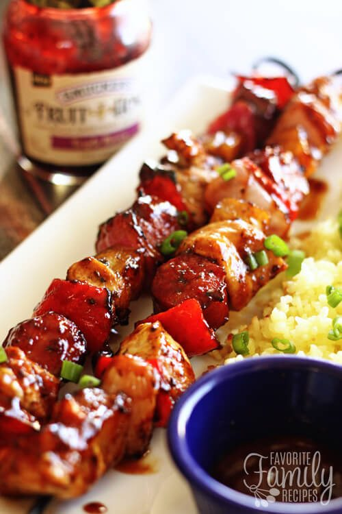 Grilled Honey Berry Sriracha Skewers
