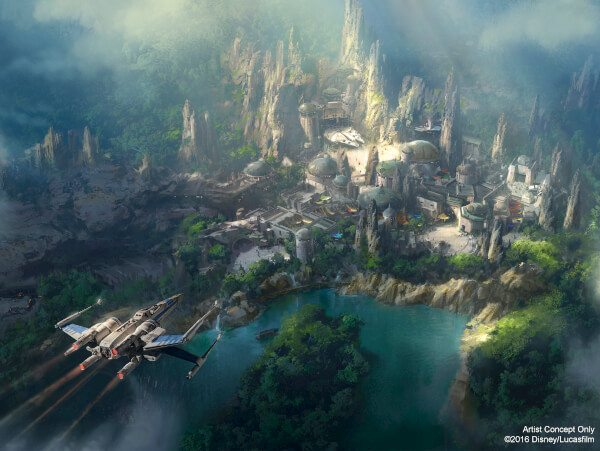 STAR WARS-THEMED LAND AT THE DISNEYLAND RESORT