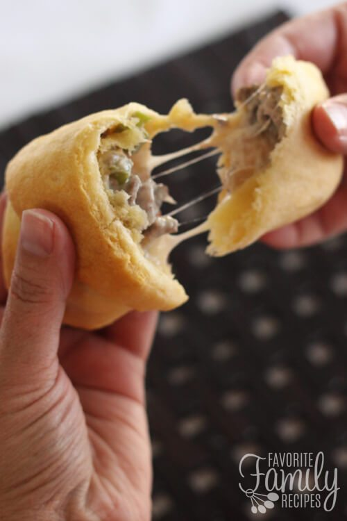 Philly Cheesesteah Crescent Rolls