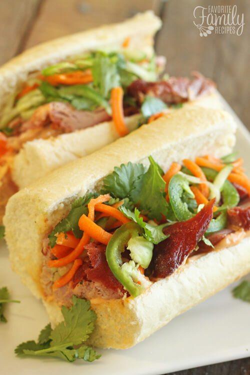 Vietnamese Pork Bahn Mi Sandwiches