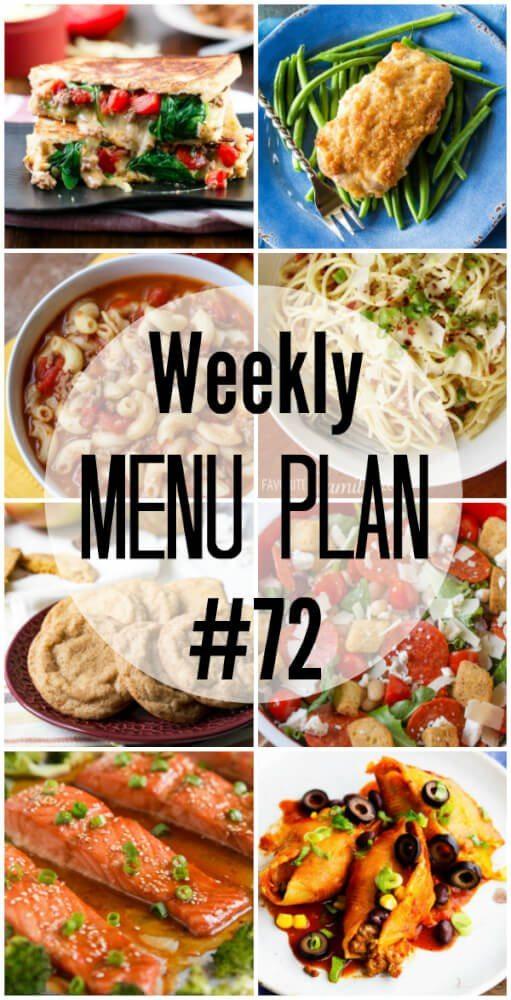 Weekly Menu Plan 72
