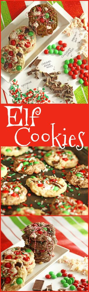 These easy HOLIDAY ELF COOKIES are the perfect Christmas cookie! We made the dough with Country Crock® #MakeItYours Cookie Recipe. It is the only cookie dough recipe you will need!