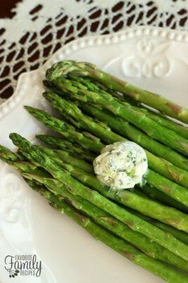 Herbed Butter on Asparagus
