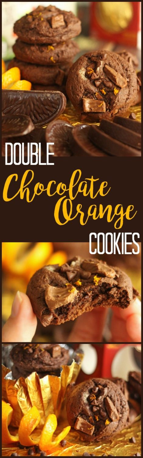These chocolate orange cookies are the perfect Christmas cookie (especially if you are a fan of chocolate oranges)! Rich and fudgy with a little citrus kick.