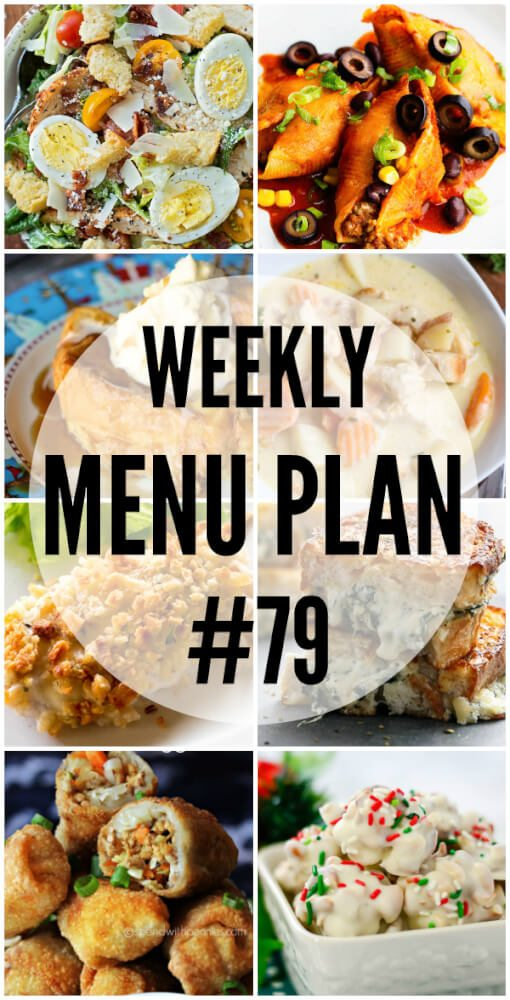 Weekly Menu Plan # 79