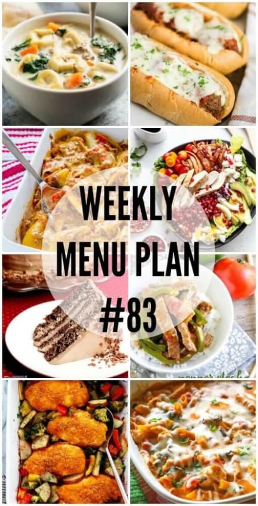 Weekly Menu Plan #83