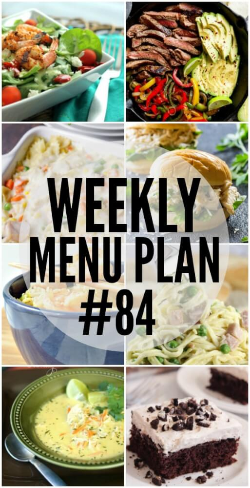 Weekly Menu Plan #84