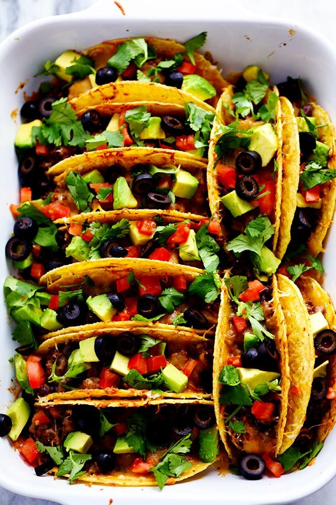 Beefy Baked Tacos