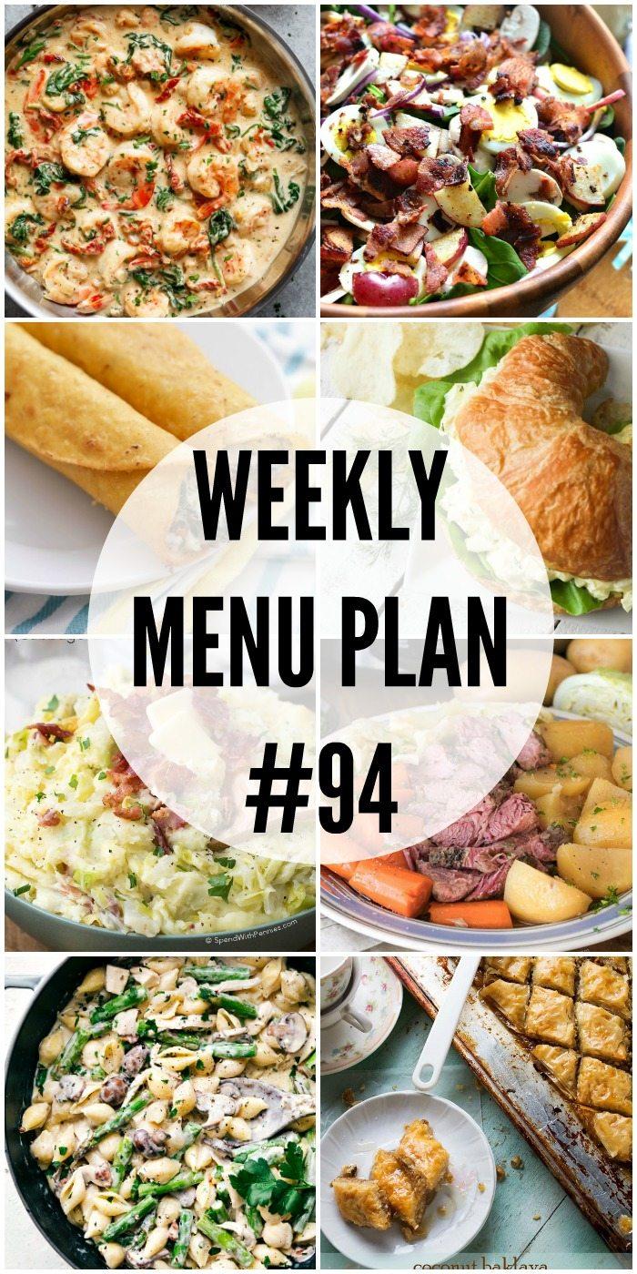 Weekly Menu Plan #94