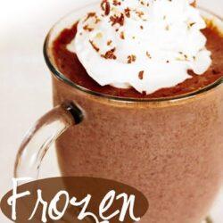 Frozen Hot Chocolate in a mug.