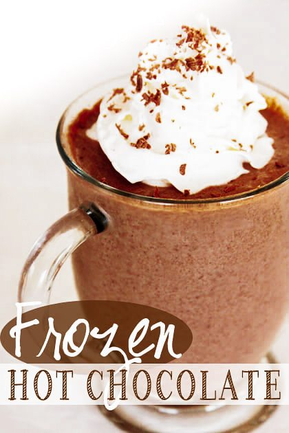 LOVE Frozen Hot Chocolate. In my high school years I loved going to ...