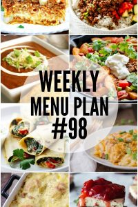 Weekly Menu Plan #98
