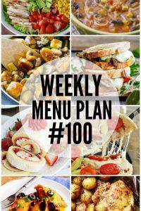 Weekly Menu Plan 100!!!