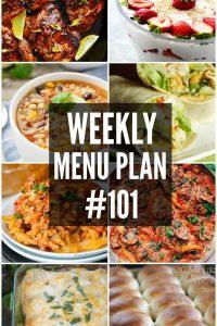 Weekly Menu Plan #101
