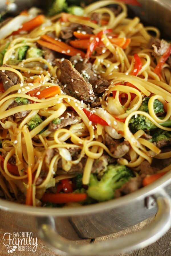 Quick and easy beef noodle stir fry favorite family recipes quick and easy beef noodle stir fry forumfinder