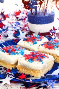Firecracker Sugar Cookie Bars