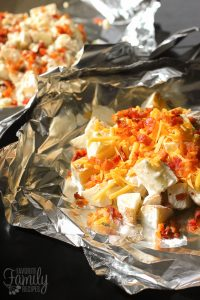 Grilled Foil Ranch Potatoes