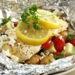 Greek Lemon Chicken Foil Packets with Vegetables