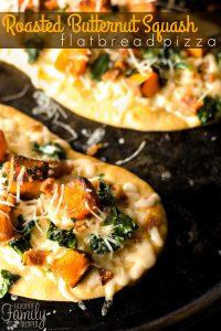 Roasted Butternut Squash Flatbread Pizza