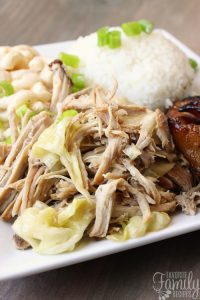 Slow Cooker Kalua Pork with Cabbage