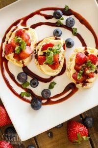 Strawberry Bruschetta with a Balsamic Reduction Glaze