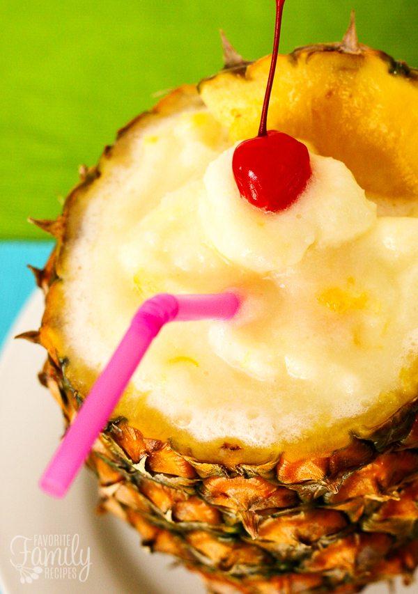Tropical Slush Pineapple Drink