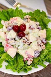 Waldorf Salad with Crunchy Apples and Grapes