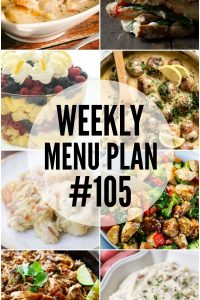 Weekly Menu Plan #105