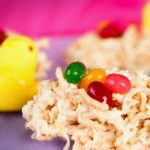 White Chocolate Nests with Macadamia Nuts