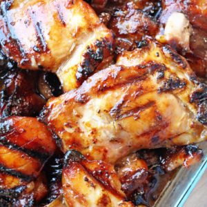 This Grilled Hawaiian Teriyaki Chicken is the real deal. The sweet and savory Hawaiian teriyaki marinade is THE best and SO easy to make.