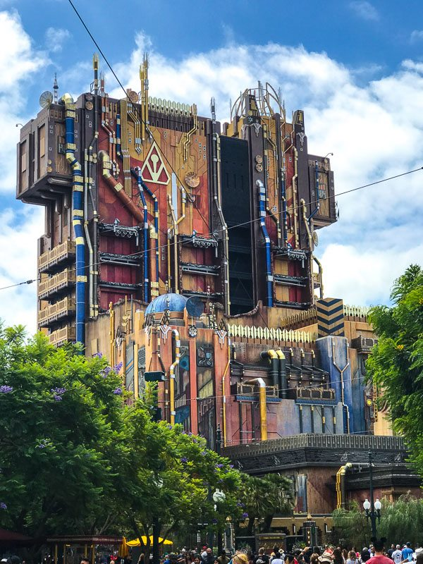 Guardians of the Galaxy Mission Breakout Ride Disneyland