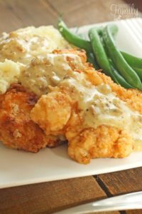 Chicken Fried Chicken with Homemade Country Gravy