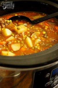 Slow Cooker Vegetable Beef Soup