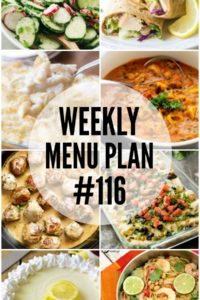 Weekly Menu Plan #116