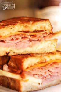 Apple Ham and Cheddar Melt Sandwiches